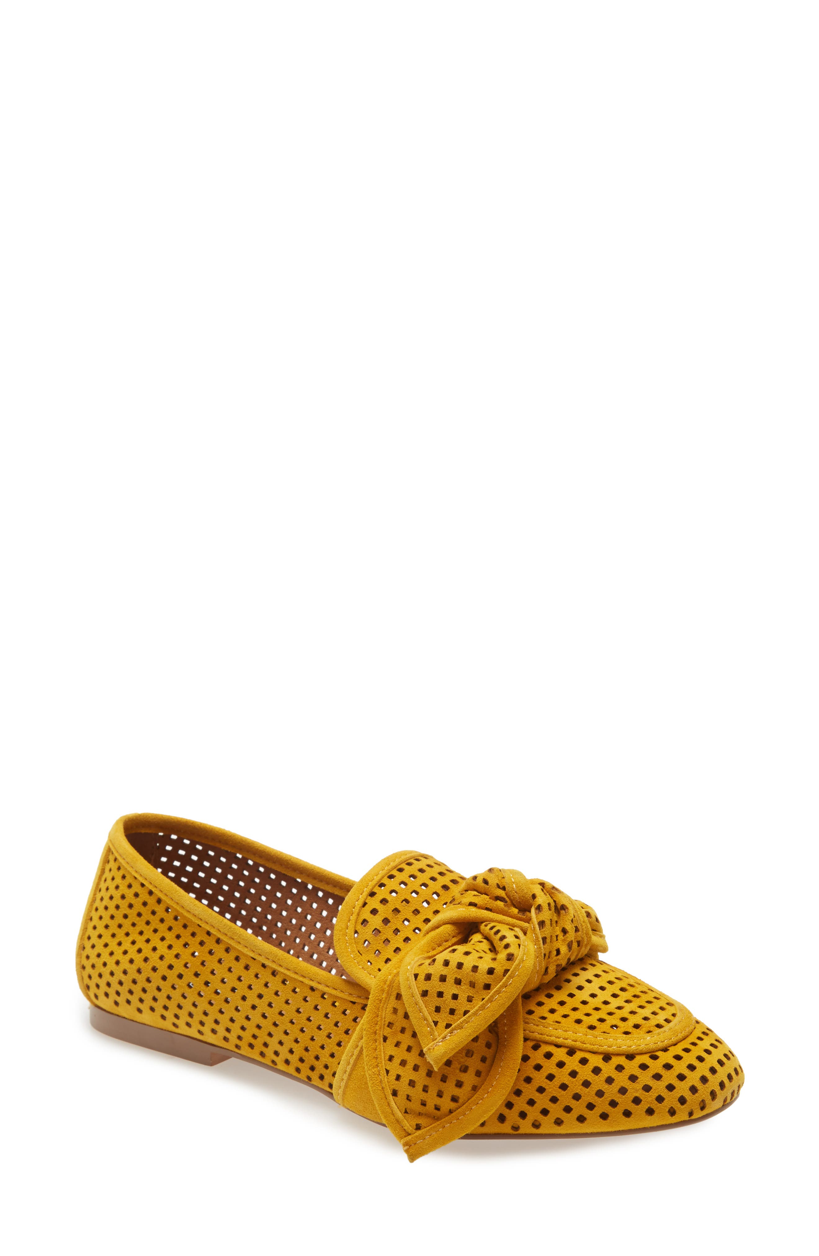A knotted bow tops a chic loafer in a perforated silhouette that\\\'s perfect for warmer weather. Style Name: Kensie Rasley Flat (Women). Style Number: 6028756. Available in stores.