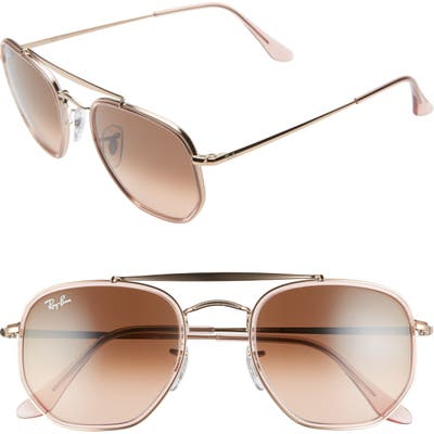 Ray-Ban 52Mm Aviator Sunglasses - Copper/ Copper Gradient