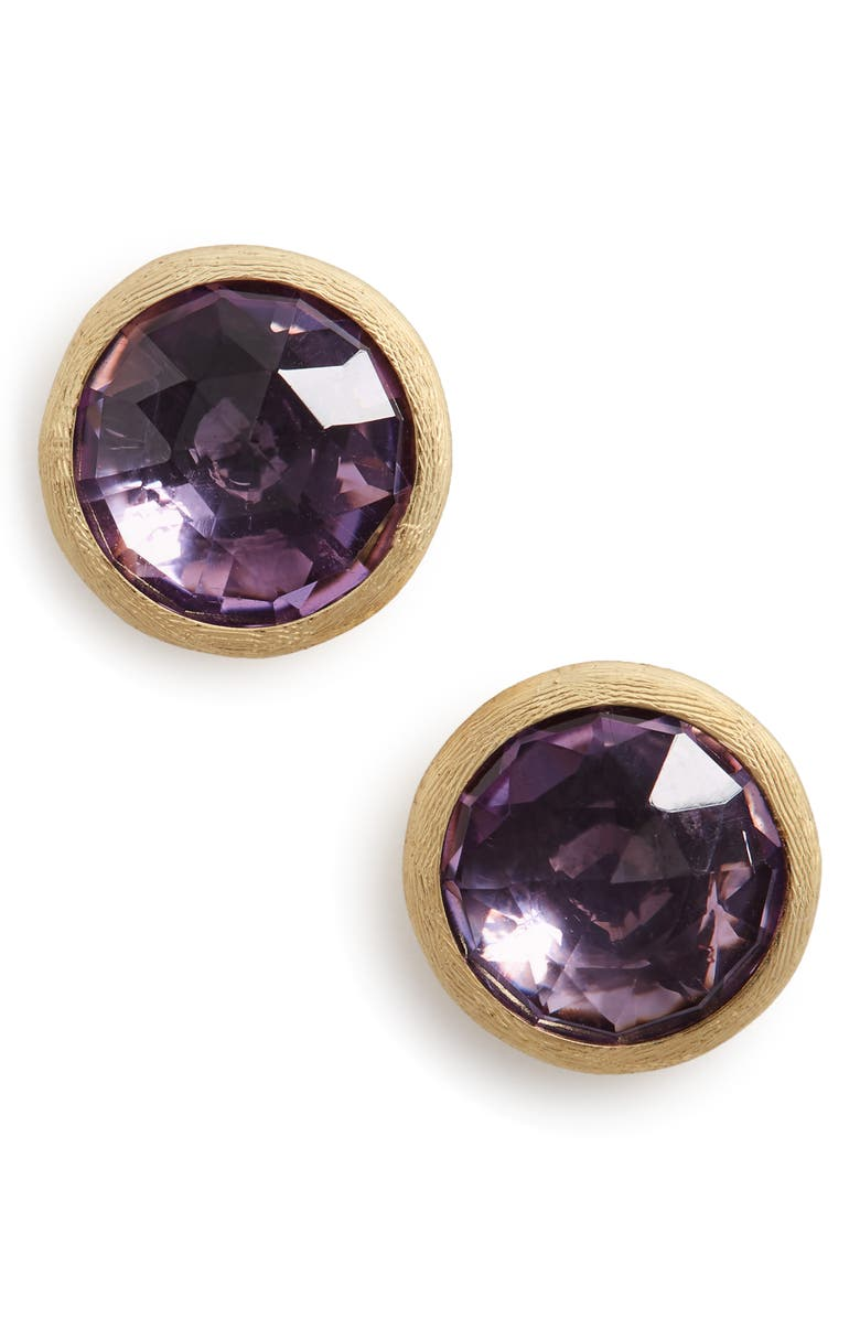 MARCO BICEGO 'Jaipur' Stone Stud Earrings, Main, color, Amethyst