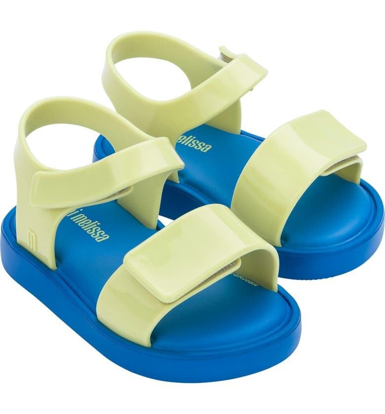 MINI MELISSA Jump Jelly Sandal, Main, color, BLUE YELLOW