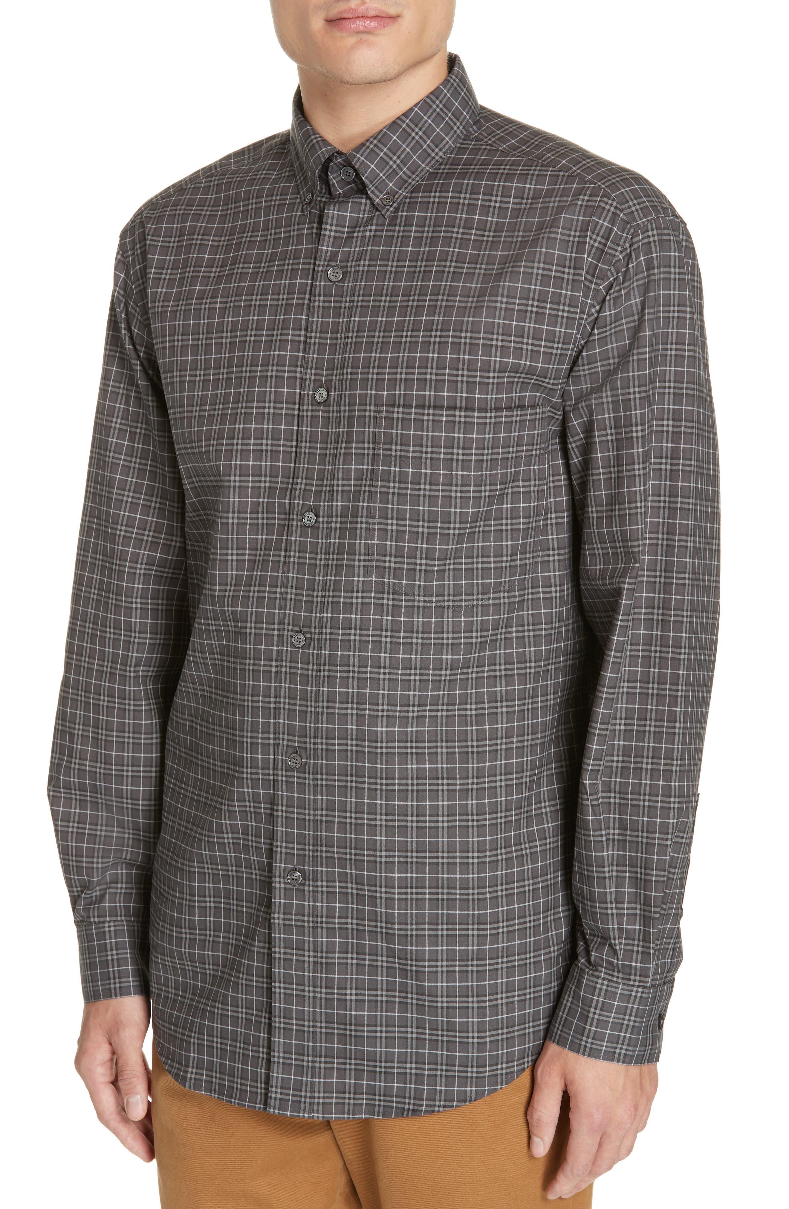 ,                             Jameson Slim Fit Check Sport Shirt,                             Alternate thumbnail 2, color,                             DARK GREY IP CHECK