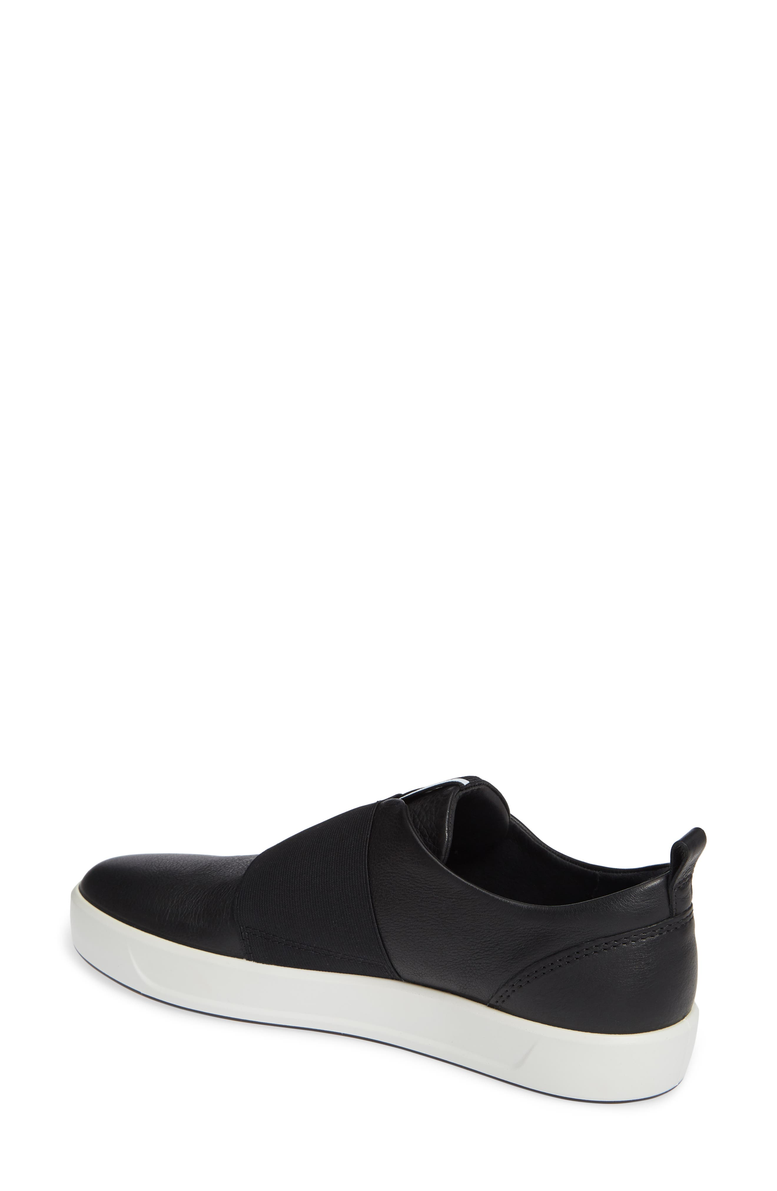 ,                             Soft 8 Band Low Sneaker,                             Alternate thumbnail 2, color,                             BLACK LEATHER