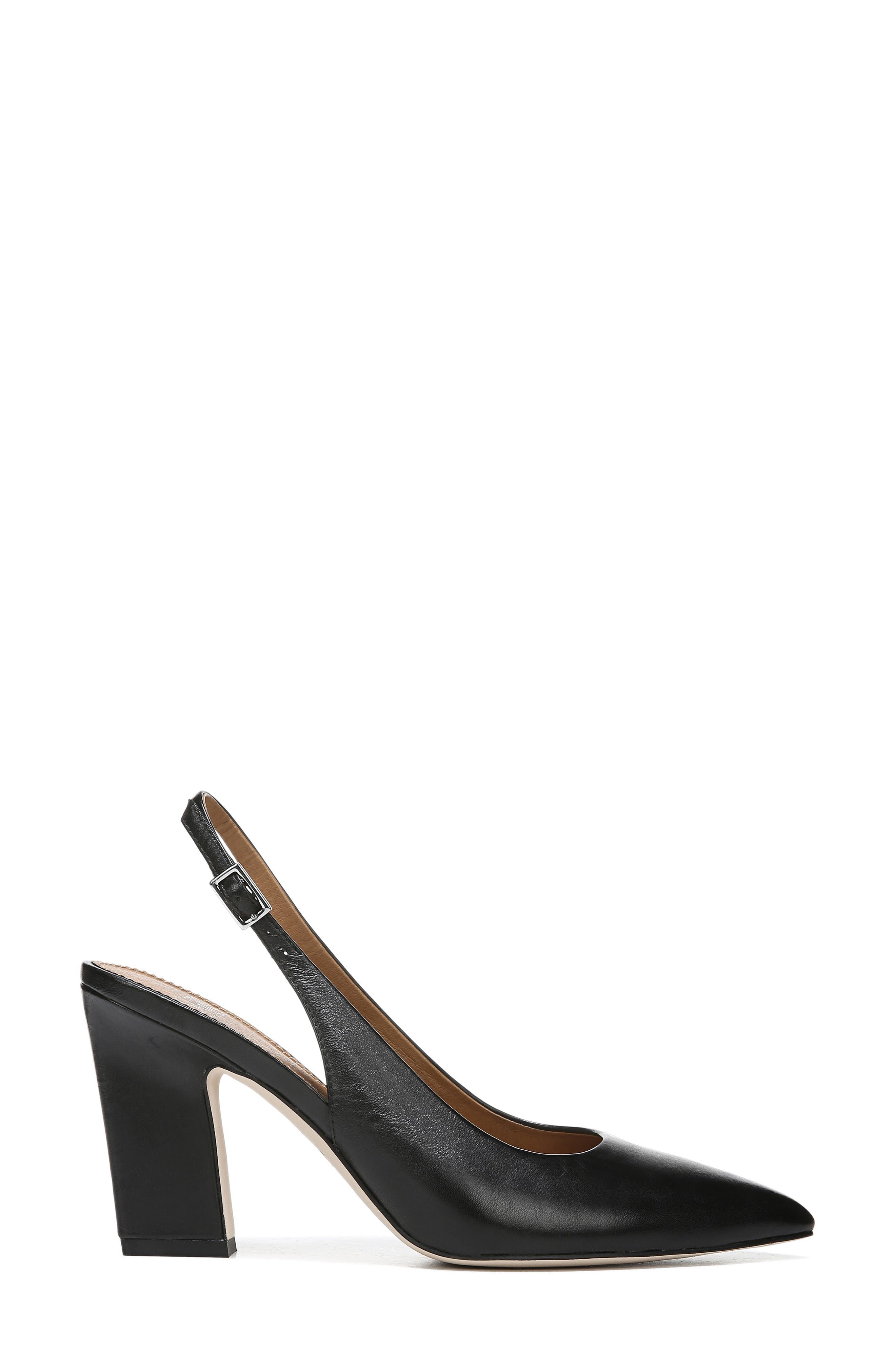 ,                             Sophie Pointy Toe Slingback Pump,                             Alternate thumbnail 3, color,                             BLACK PATENT LEATHER