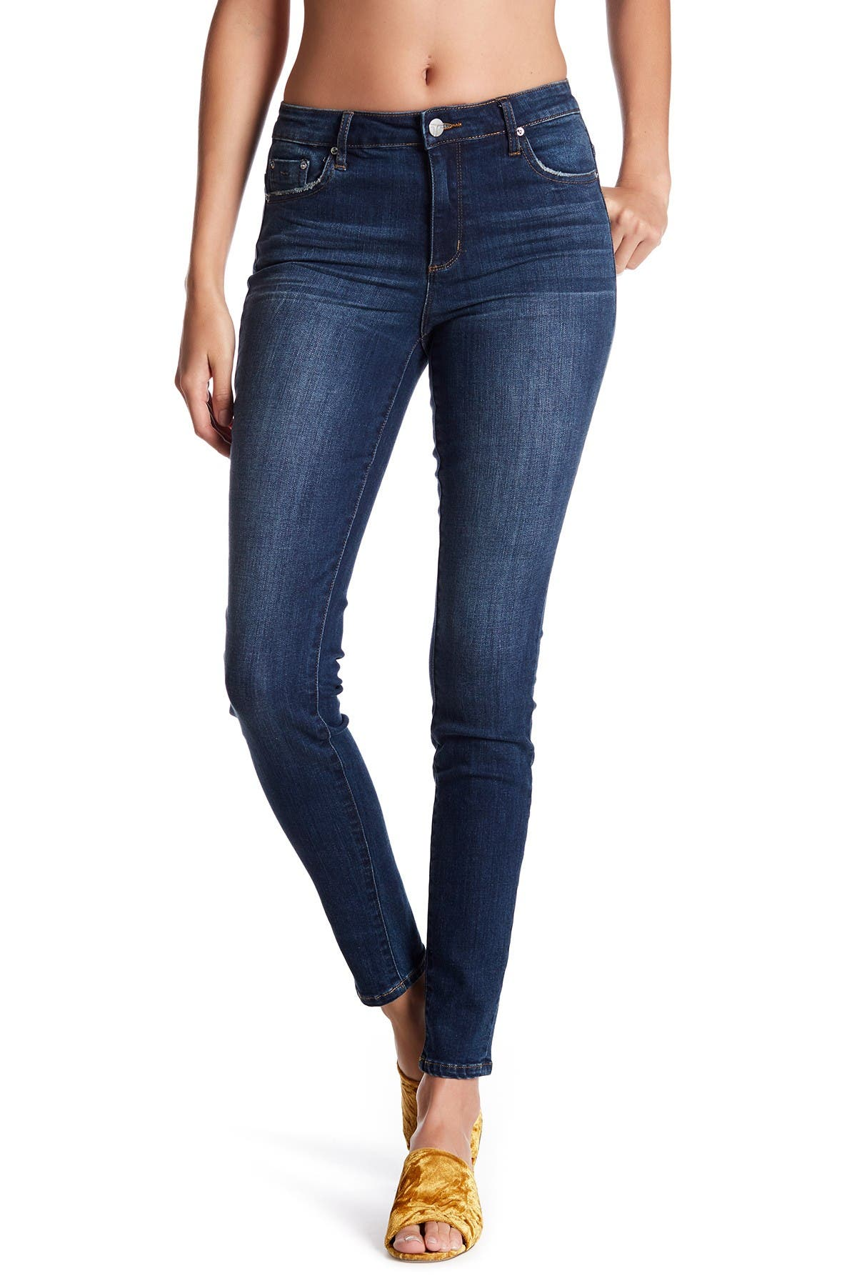 Image of Tractr High Waist Skinny Jeans
