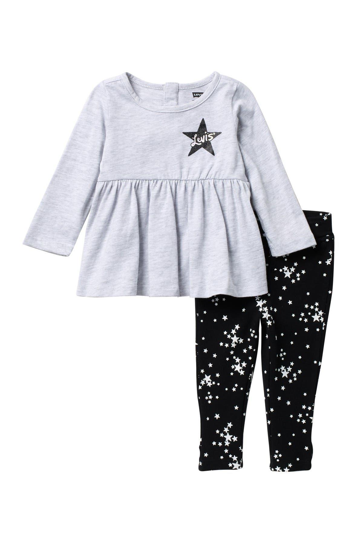 Image of Levi's Star Knit Tunic Top & Leggings Set