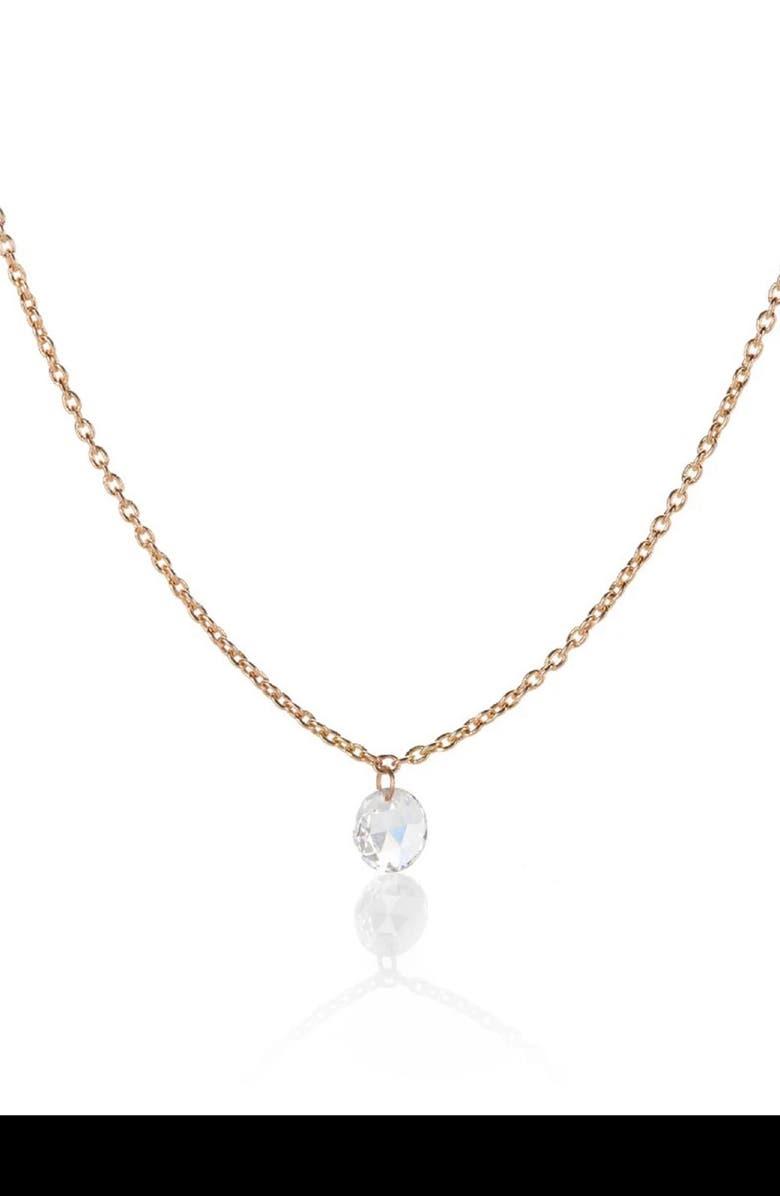 SETHI COUTURE Rose-Cut Diamond Pendant Necklace, Main, color, 712