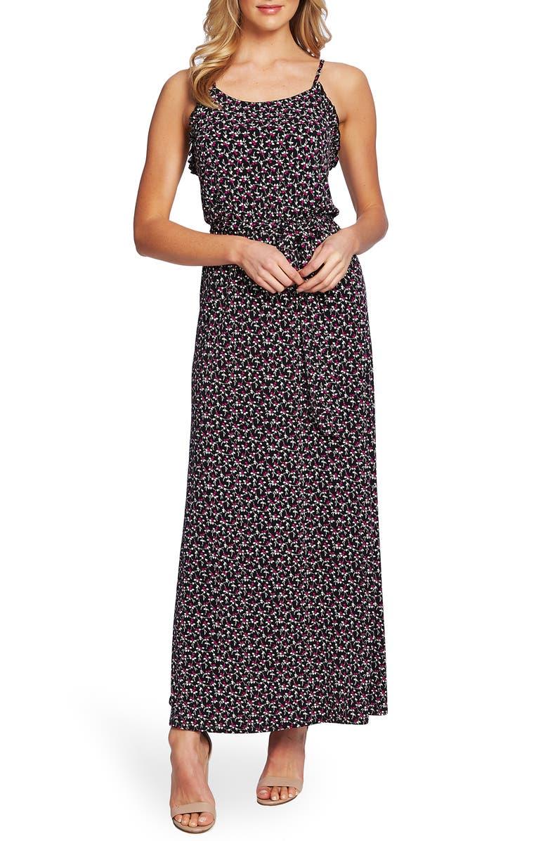 CECE Marrakesh Lace Ditsy Sleeveless Maxi Dress, Main, color, 006