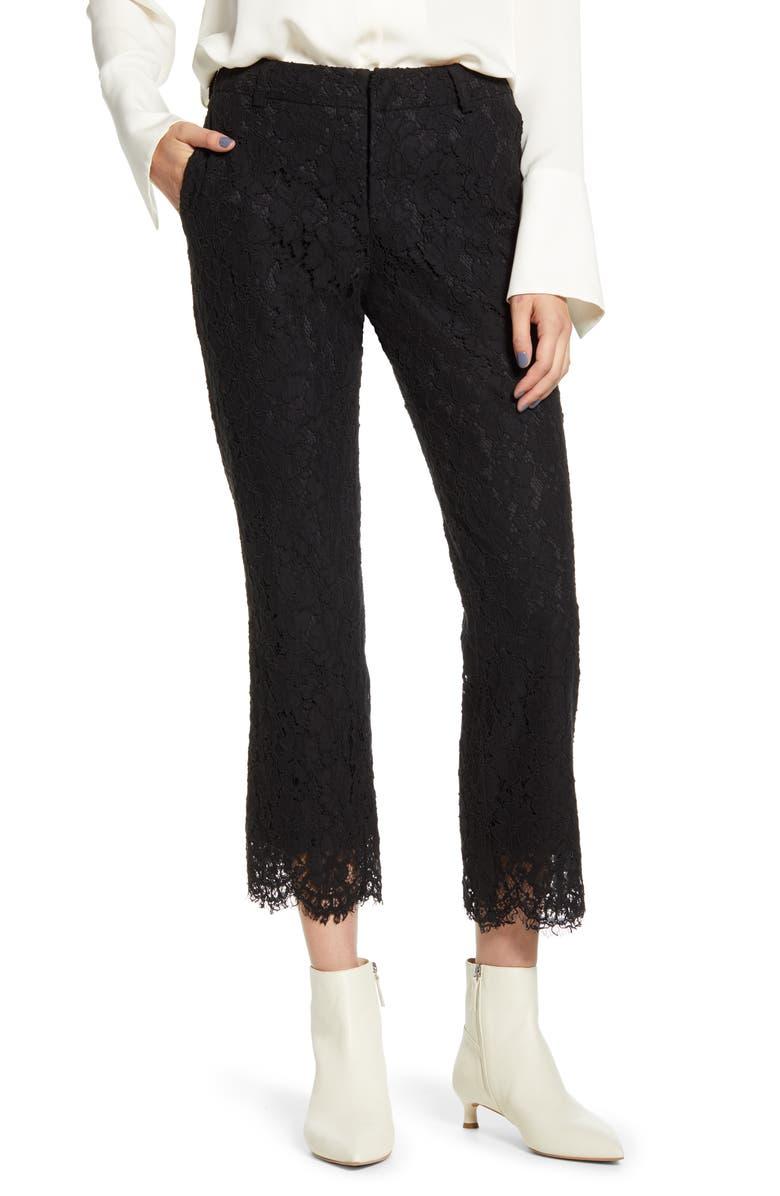 ZADIG & VOLTAIRE Posh Lace Pants, Main, color, NOIR