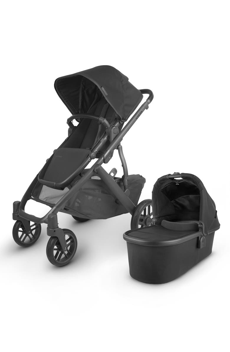 UPPABABY Vista V2 Stroller with Bassinet, Main, color, CHARCOAL/ BLACK LEATHER