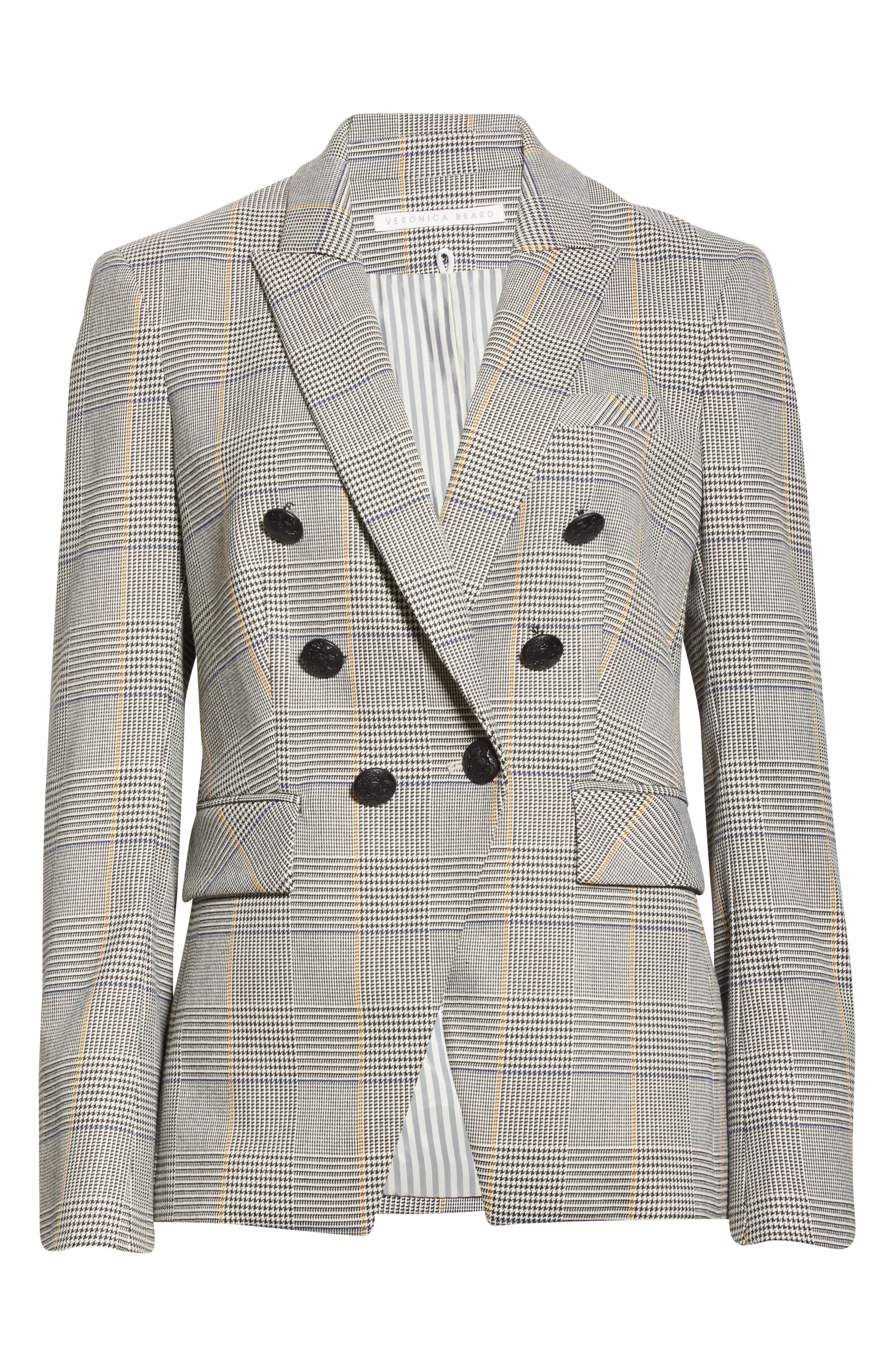 Veronica Beard Coats Miller Plaid Dickey Jacket