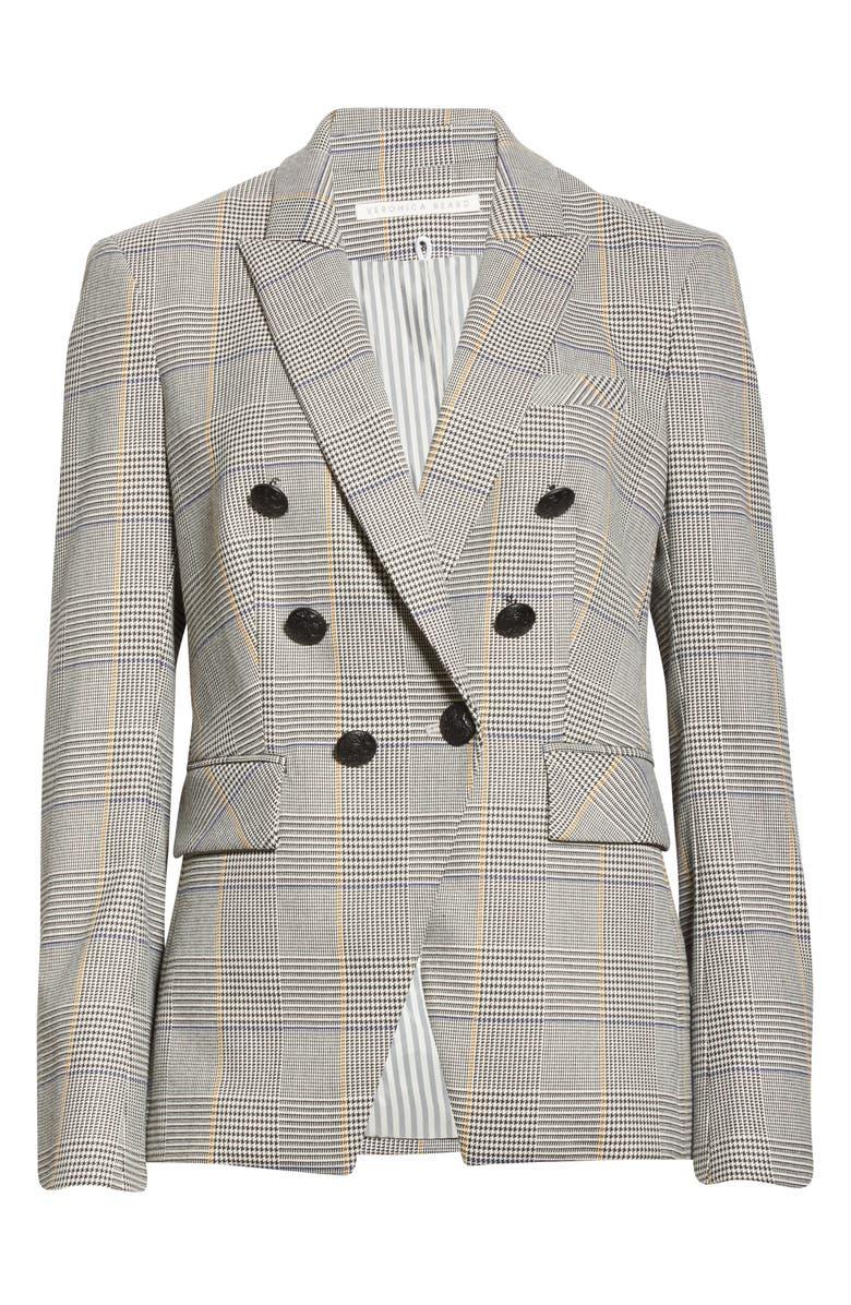 VERONICA BEARD Miller Plaid Dickey Jacket, Main, color, WHITE MULTI