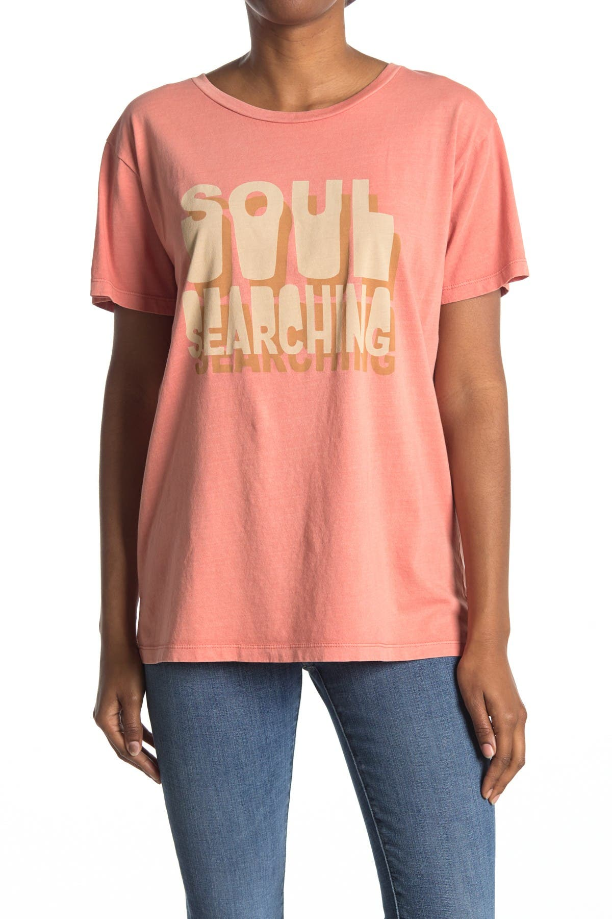Image of Desert Dreamer Soul Searching Graphic Crew Neck T-Shirt