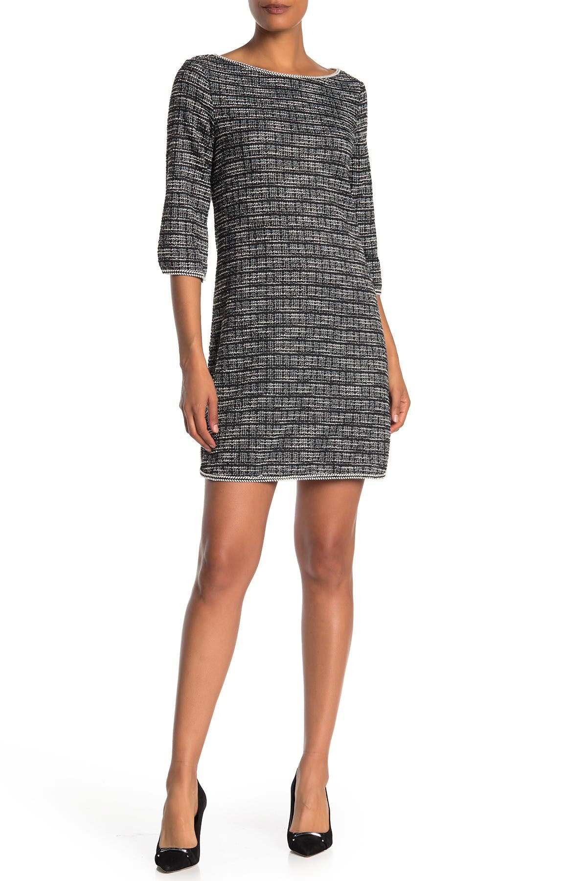 Image of Max Studio Tweed Knit Mini Dress