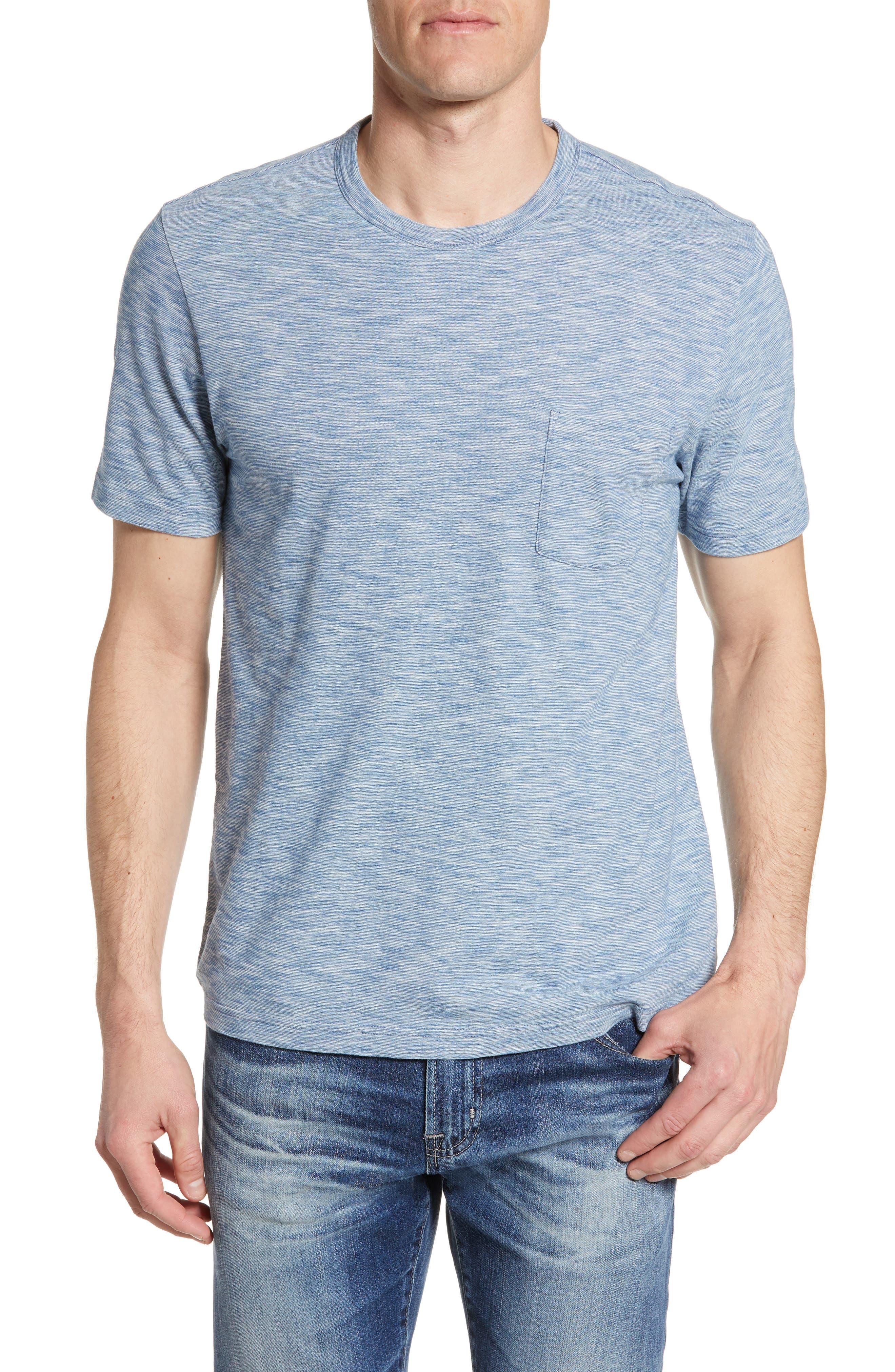 Faherty Stripe Pocket T-Shirt, Blue
