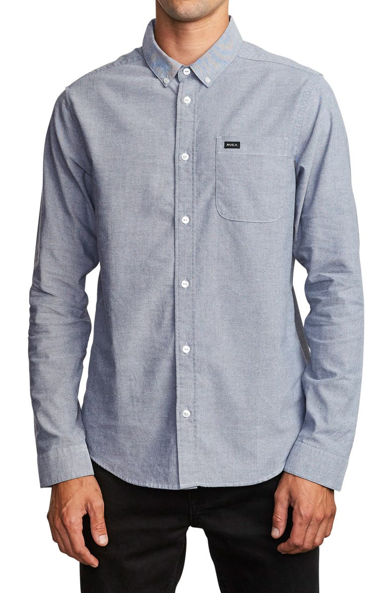 RVCA That'll Do Button-Down Shirt, Main, color, 489