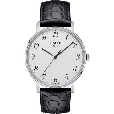 Tissot Everytime Leather Strap Watch,