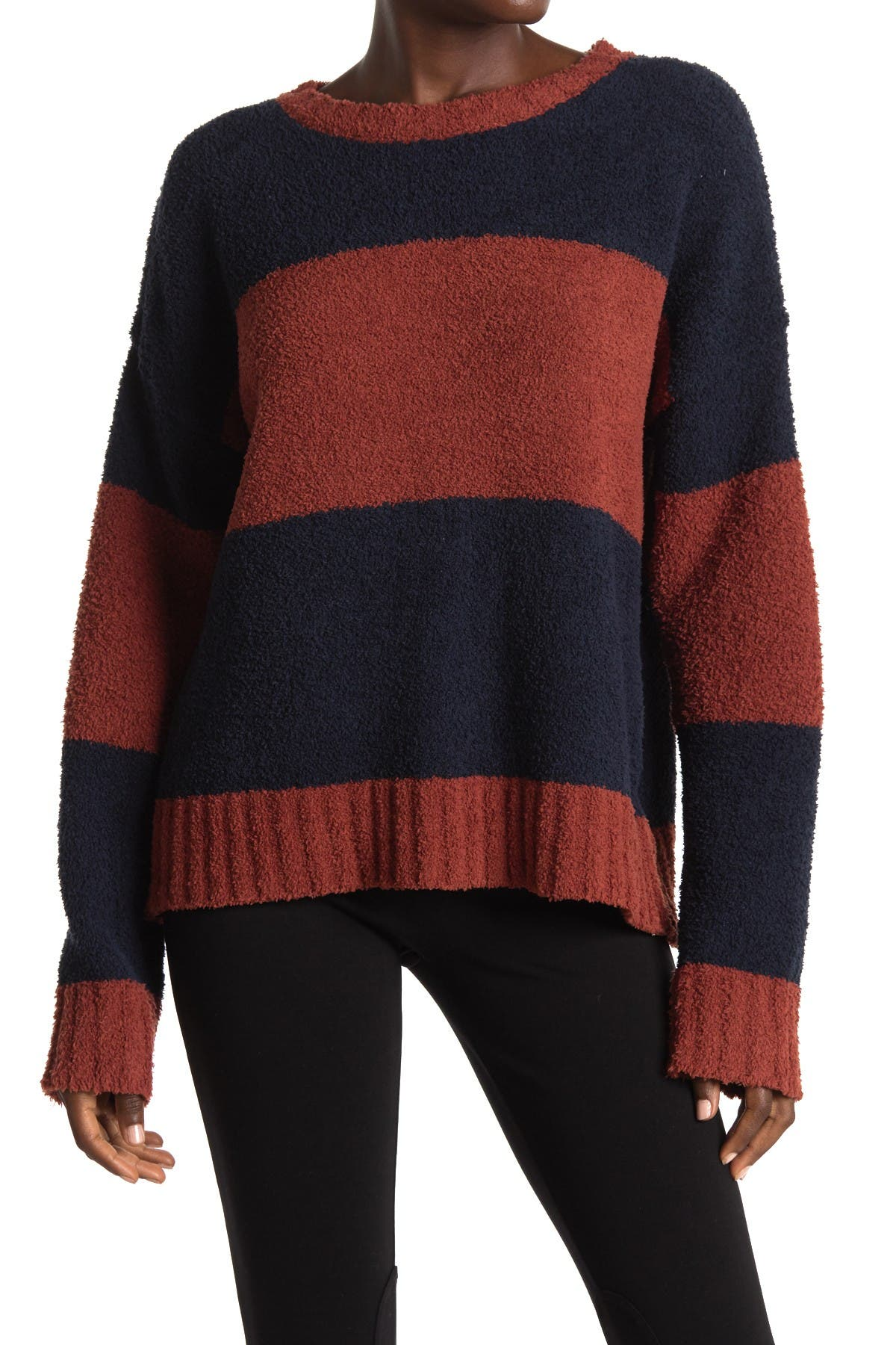 Image of THREAD AND SUPPLY Long Sleeve Stripe Print Pullover Sweater