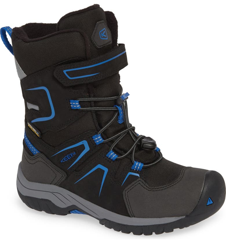 KEEN Levo Waterproof Insulated Boot, Main, color, BLACK/ BALEINE BLUE