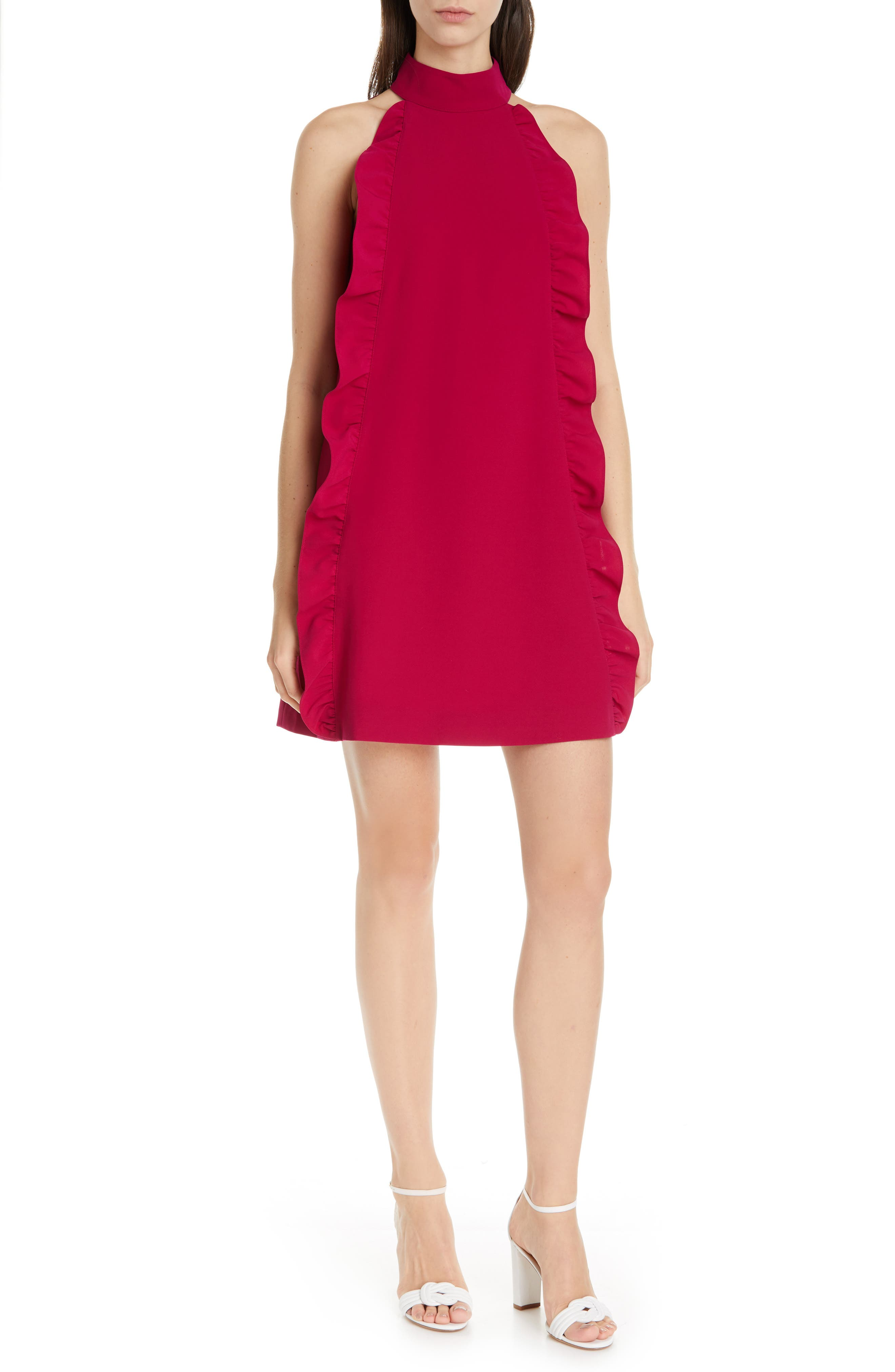 Ted Baker London Torriya Ruffle Tunic Dress, Pink