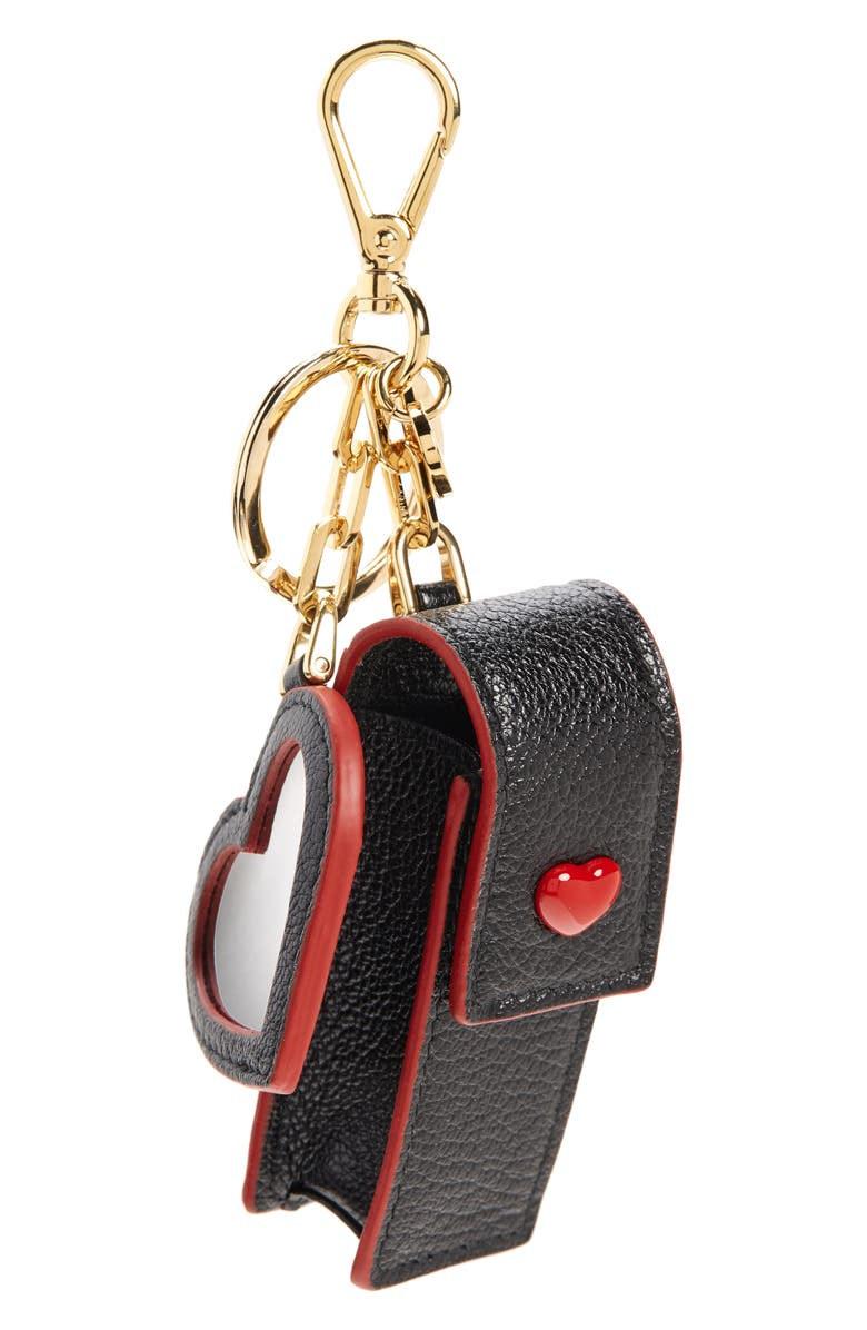 MIU MIU Madras Lipstick Key Chain, Main, color, NERO