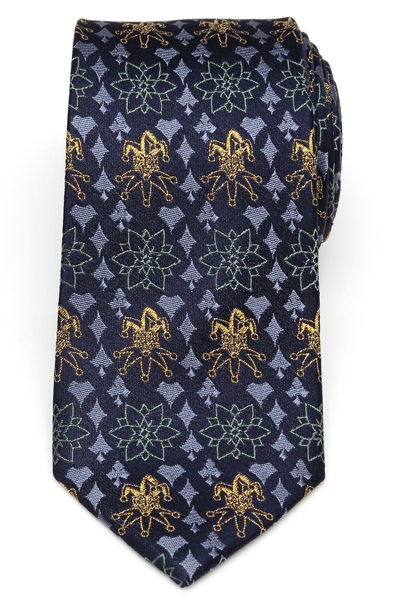 CUFFLINKS, INC. Joker Print Silk Tie, Main, color, BLUE