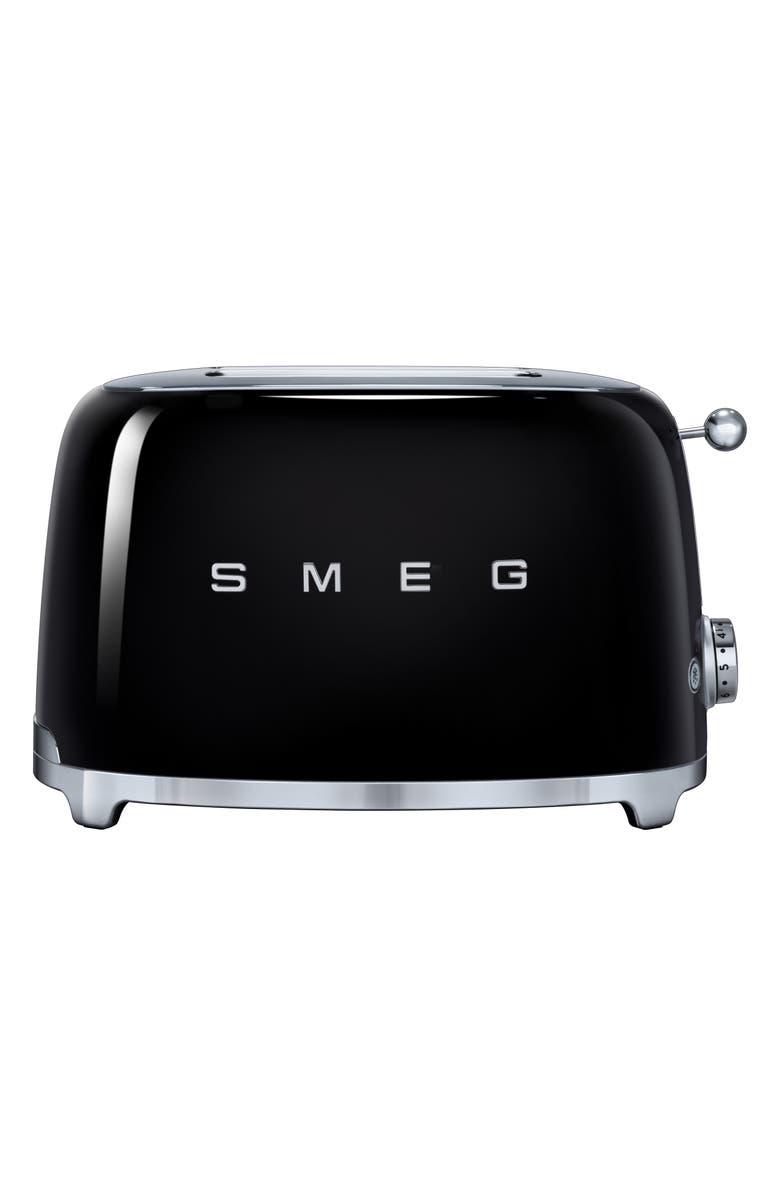 SMEG 50s Retro Style Two-Slice Toaster, Main, color, BLACK