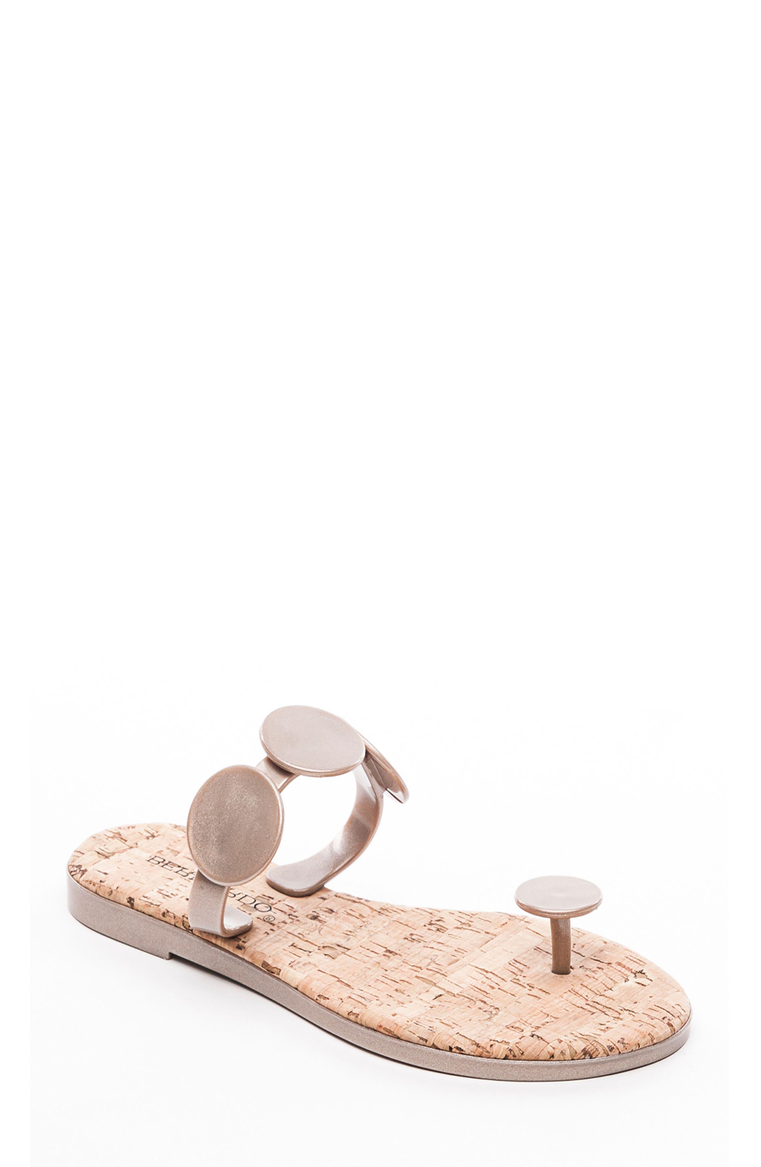 Bernardo New Moon Flip Flop, Metallic