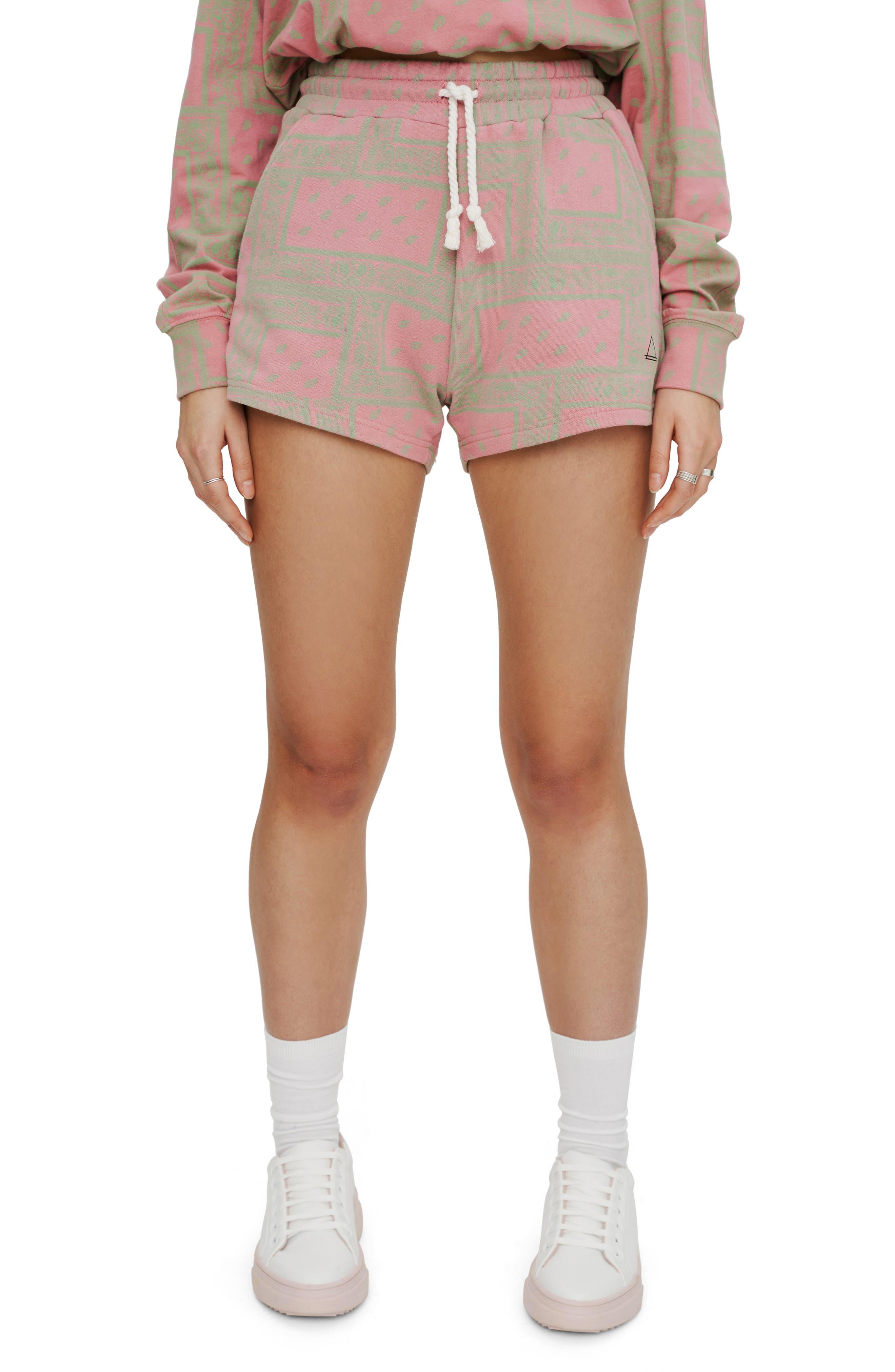 Bandana Print Fleece Shorts