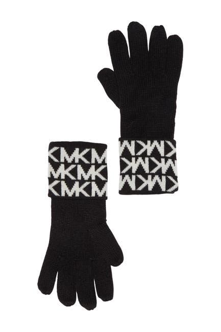 Image of Michael Kors Bordered MK Logo Gloves