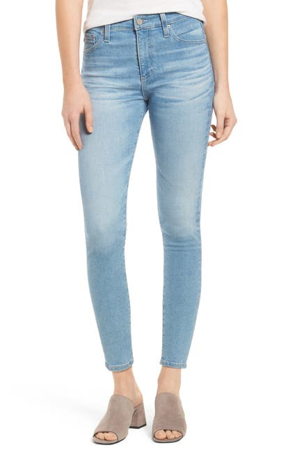 Image of AG The Farrah High Waist Crop Skinny Jeans