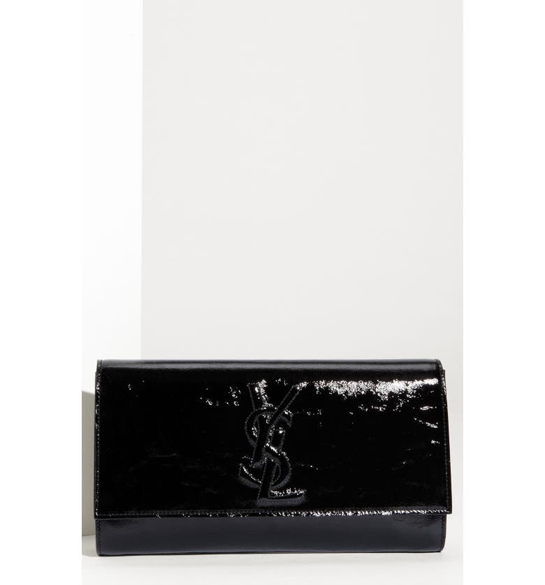 3e04392d1 Yves Saint Laurent 'Belle de Jour - Large' Patent Envelope Clutch, Main,
