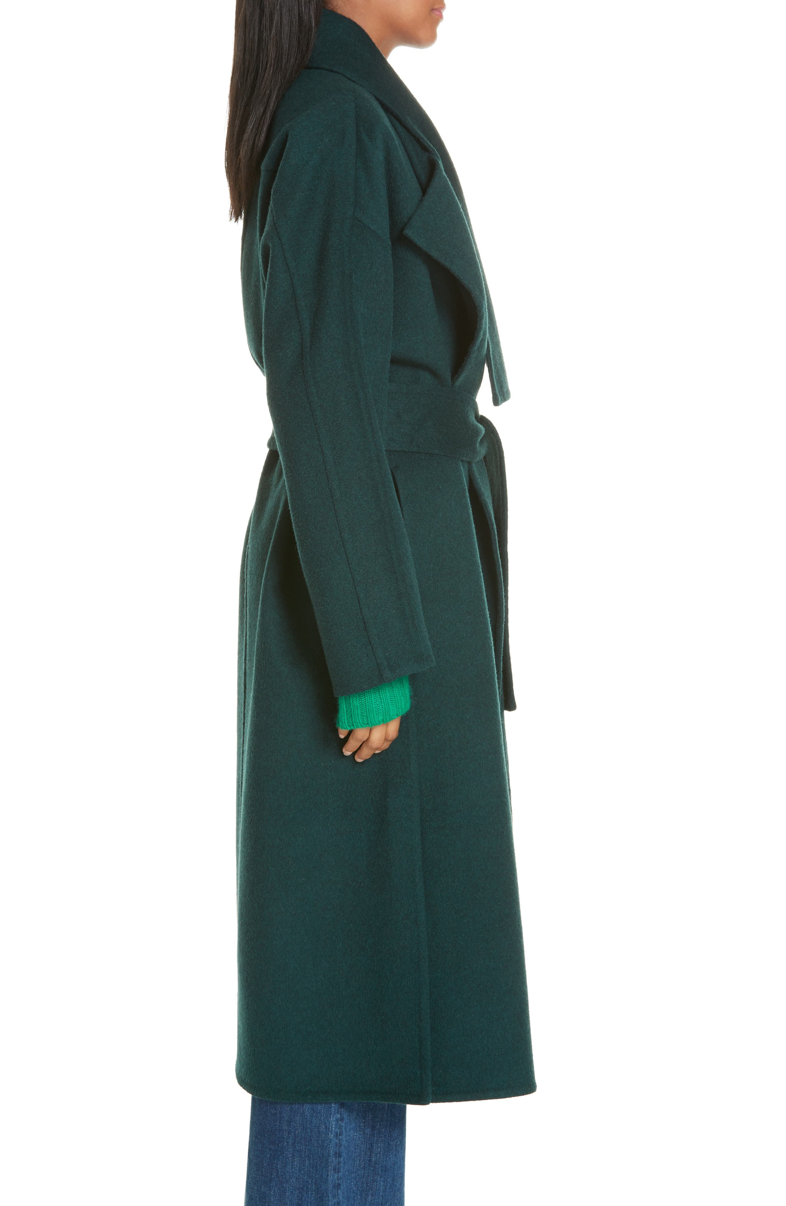 ,                             Belted Wool Blend Cozy Coat,                             Alternate thumbnail 4, color,                             306