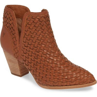 Frye Reed Woven Bootie- Brown