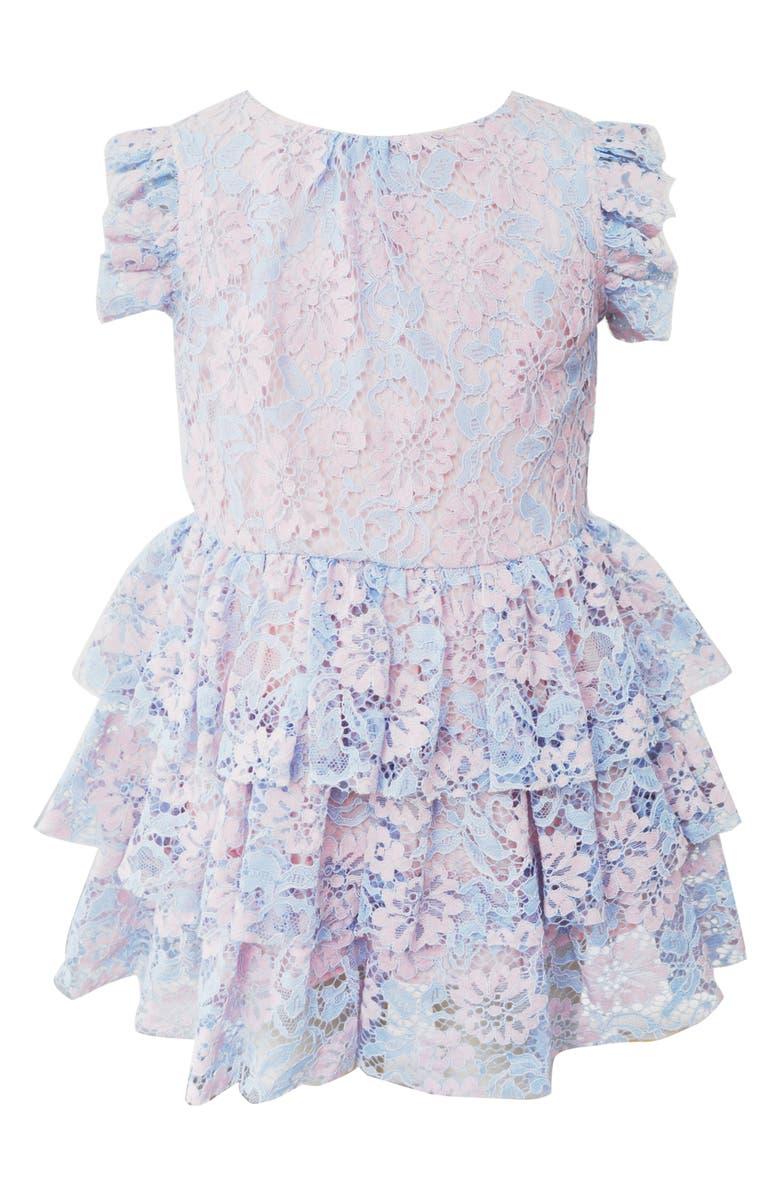 Popatu Floral Lace Tiered Dress Toddler Girls Little Girls Big Girls