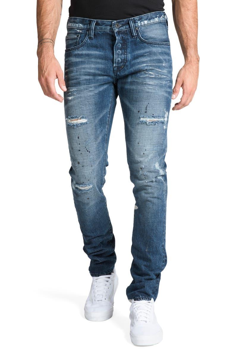 PRPS Le Sabre Slim Fit Jeans, Main, color, 490