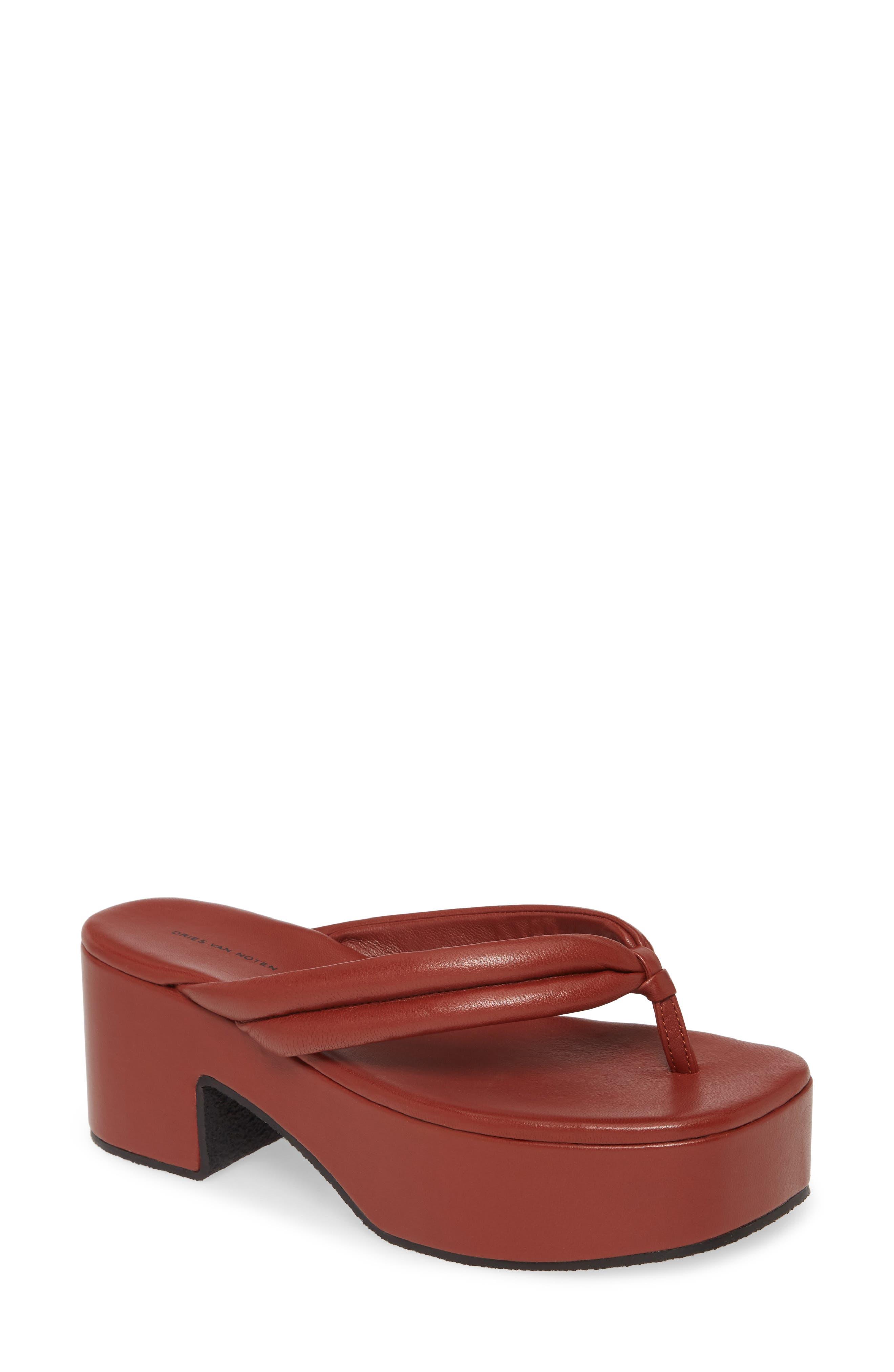 Dries Van Noten Platform Thong Sandal