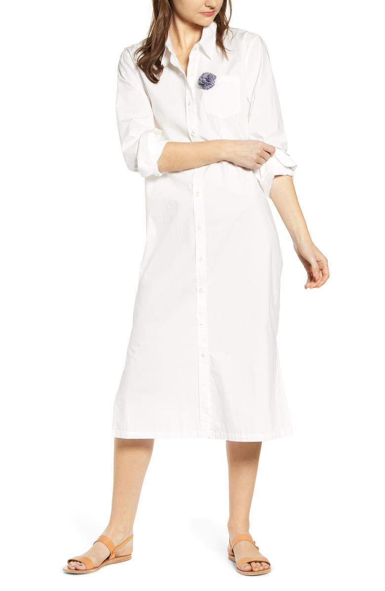 ALEX MILL Fine Maxi Shirtdress, Main, color, 100