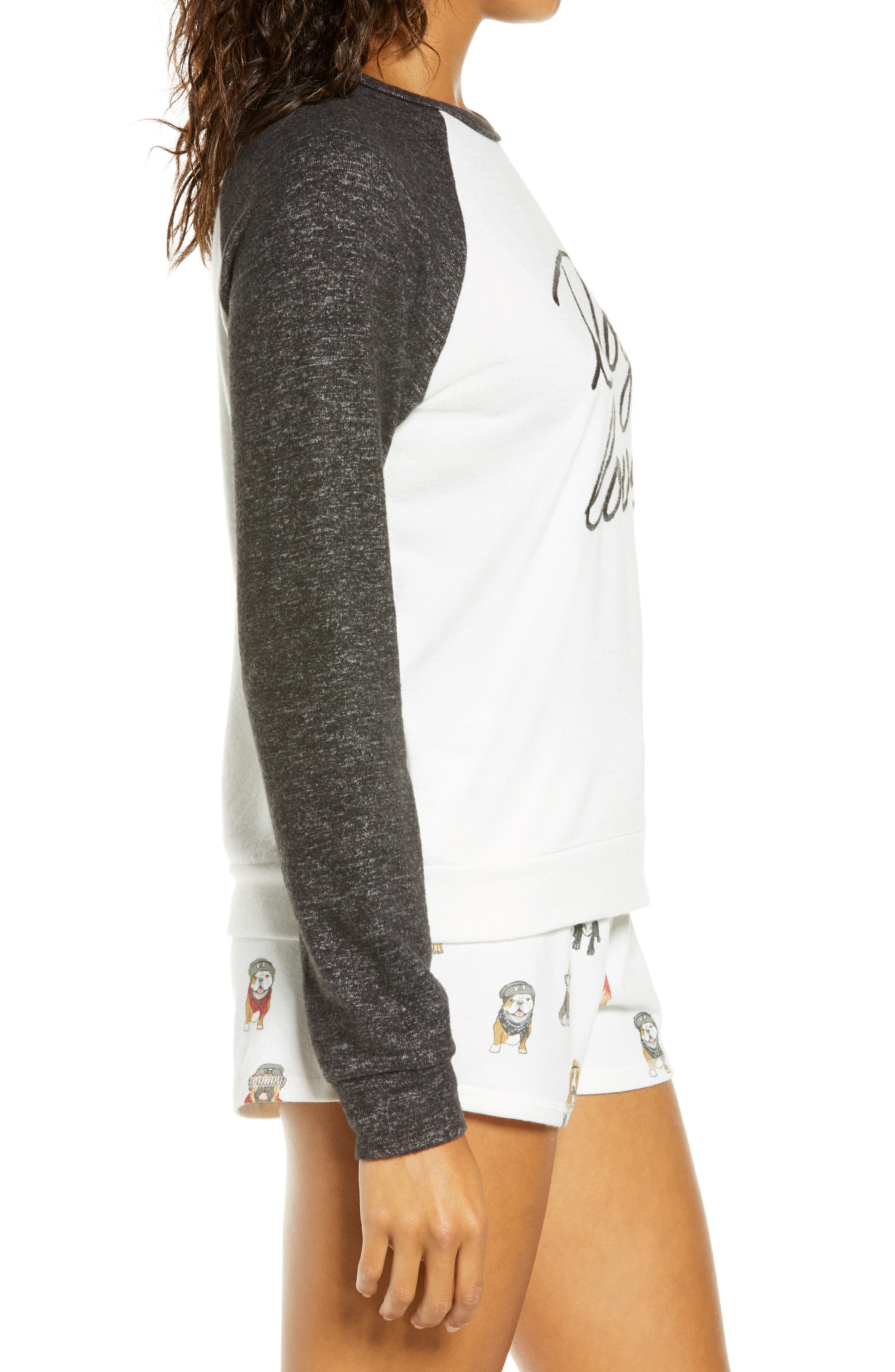 PJ Salvage Hip Hound Embroidered Pajama Top