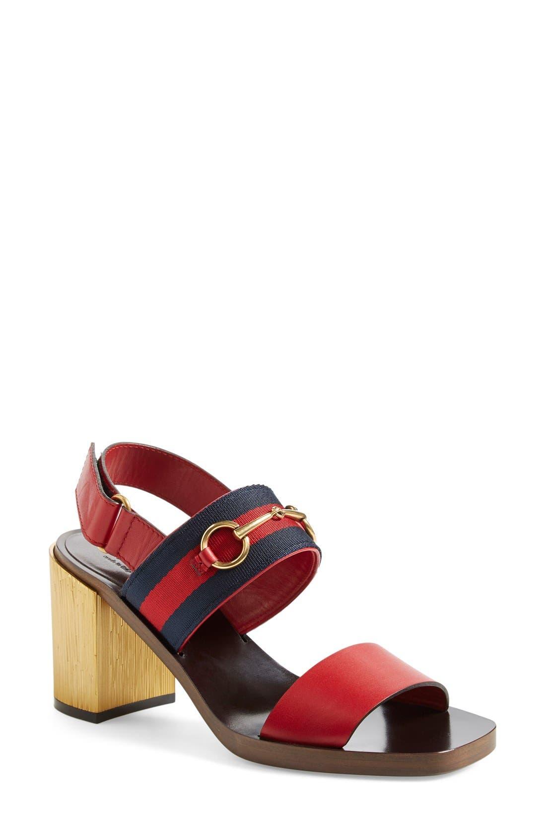 ,                             'Querelle' Horsebit Slingback Sandal,                             Main thumbnail 5, color,                             600