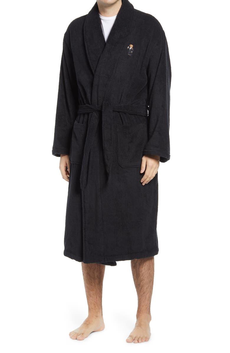 Polo Ralph Lauren Martini Bear Men's Robe | Nordstrom