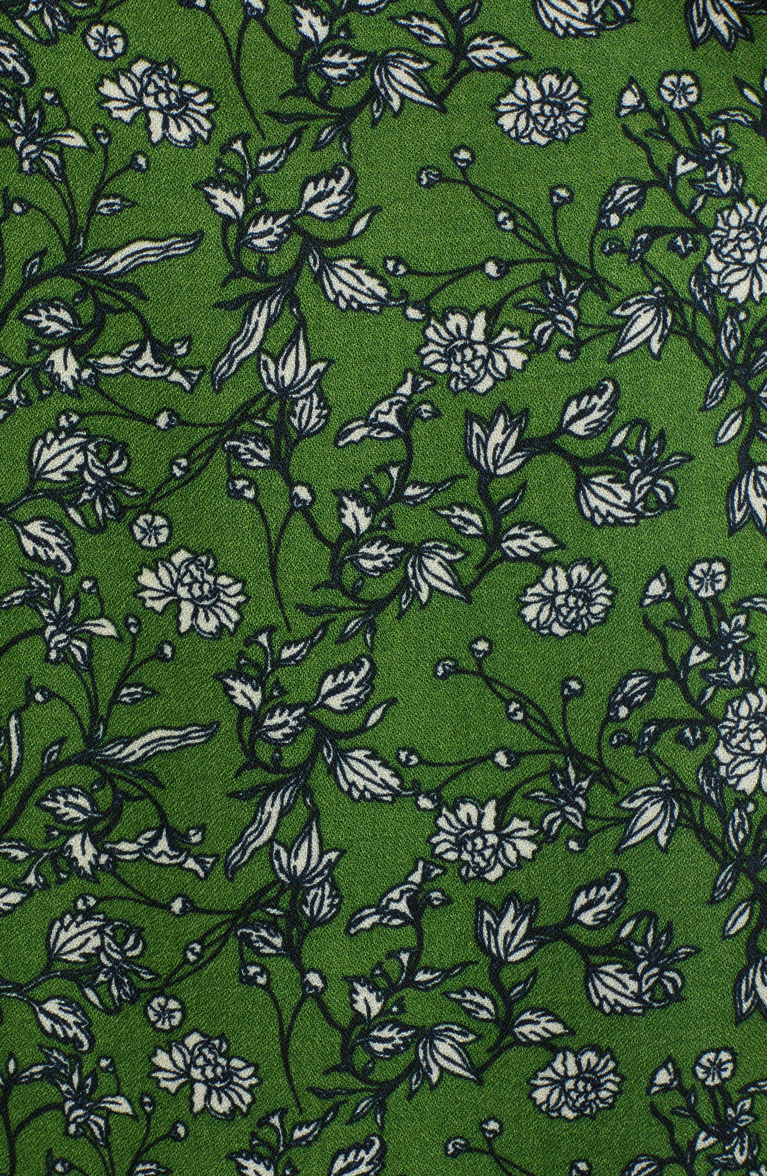 ,                             Print Wide Leg Crop Pants,                             Alternate thumbnail 6, color,                             GREEN CANOPY FLOWER BRANCHES