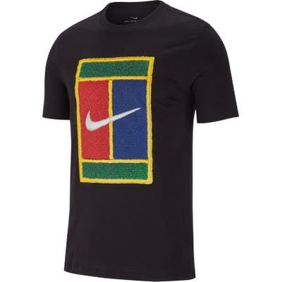 Nike Nikecourt Logo T-Shirt, Black