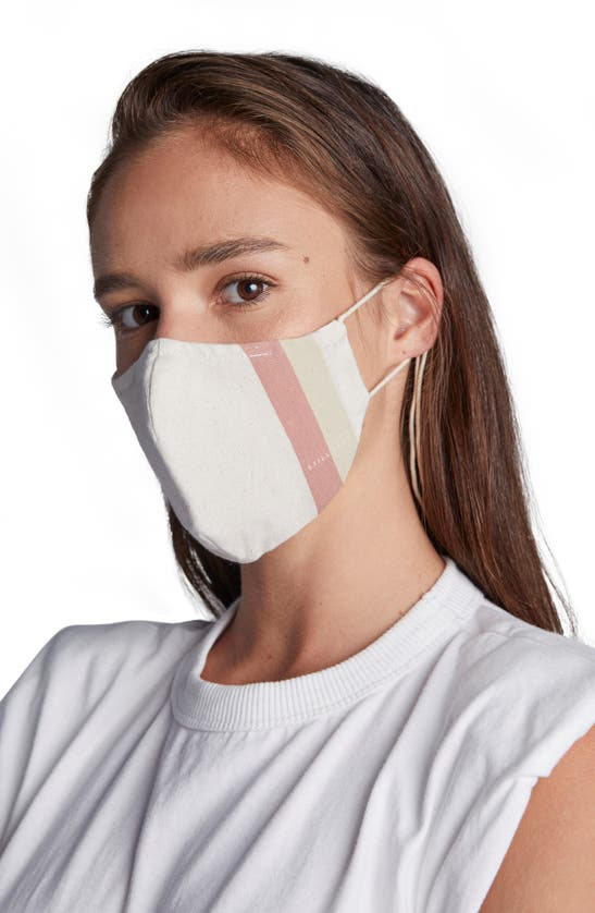 Still Here Adult Face Mask In Beige/ Pink/ Yellow