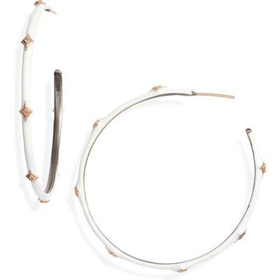 Armenta New World 14K Gold & Enamel Hoop Earrings