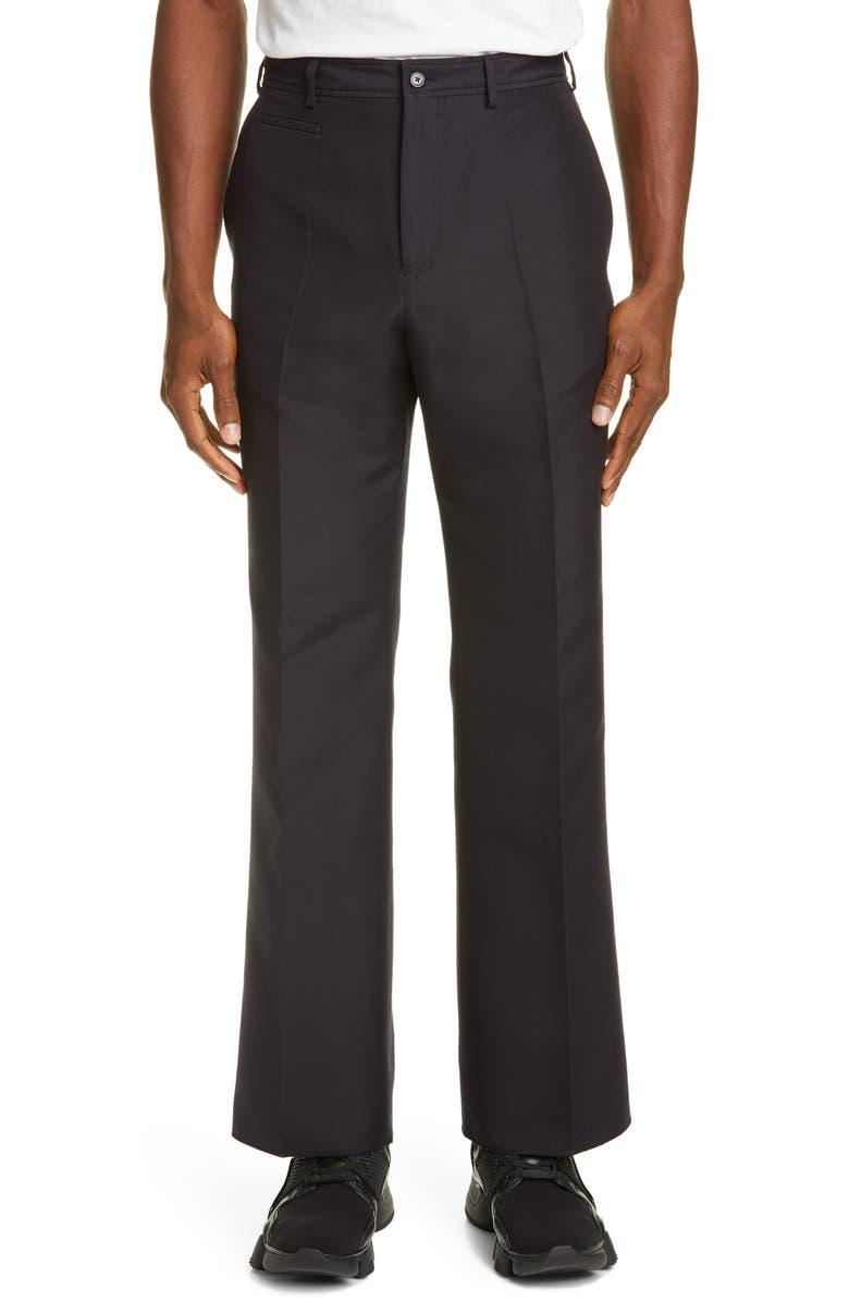 VALENTINO VLTN Cotton & Silk Pants, Main, color, DARK NAVY