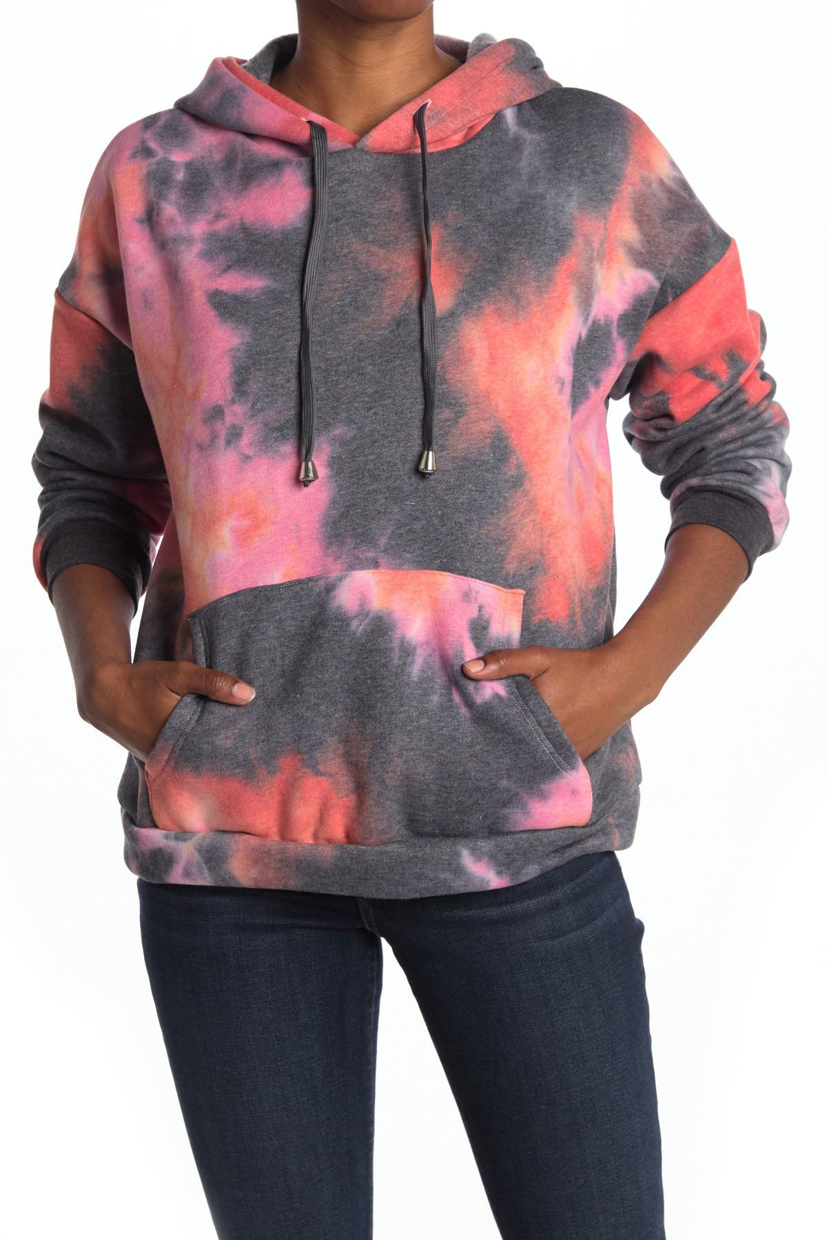 Image of Cotton Emporium Hooded Tie Dye Sweatshirt