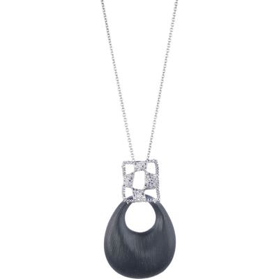 Alexis Bittar Modern Georgian Checkerboard Lucite Pendant Necklace