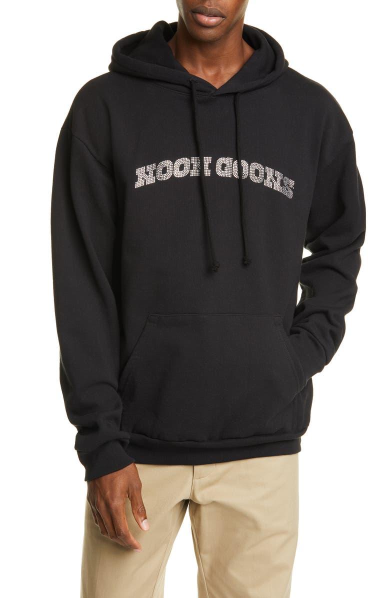 NOON GOONS Drip Diamond Hoodie, Main, color, BLACK