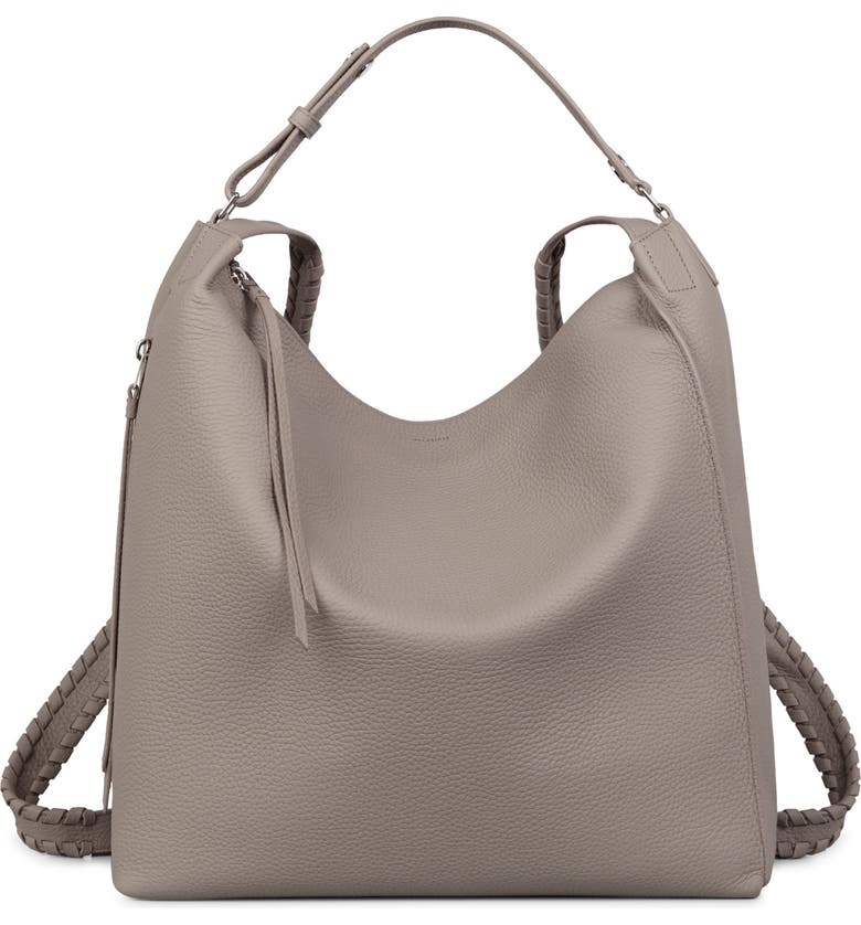 ALLSAINTS Kita Convertible Leather Backpack, Main, color, 020