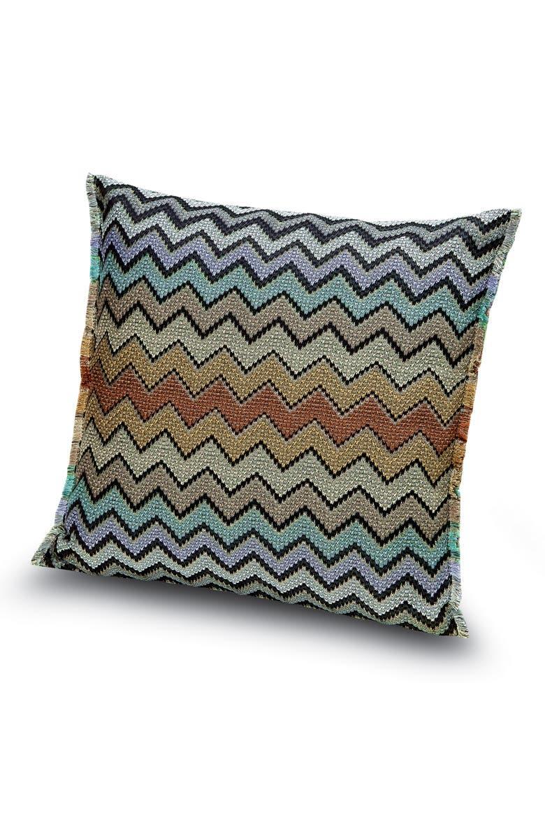 MISSONIHOME Westmeath Chevron Accent Pillow, Main, color, MULTI